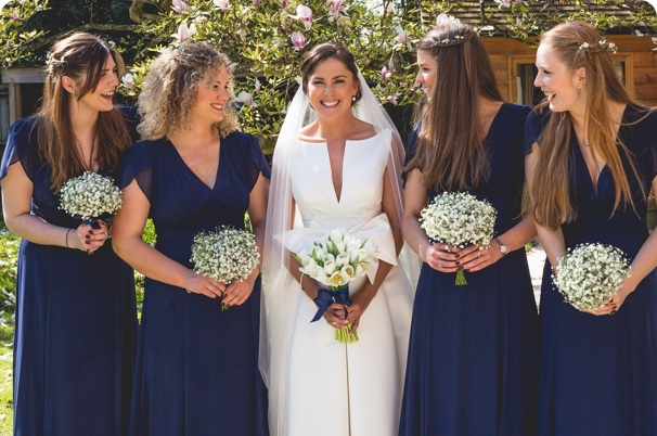 Bride holding flowers provided by leading florist new forest & flower delivery beaulieu